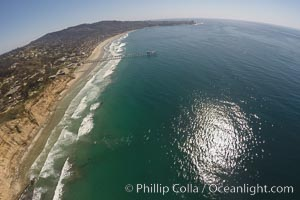 Aerial Photo of San Diego Scripps Coastal SMCA. Blacks Beach and Scripps Pier. La Jolla, California, USA, natural history stock photograph, photo id 30625
