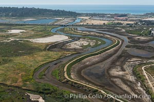 Aerial photo of San Dieguito Lagoon State Marine Conservation Area.  San Dieguito Lagoon State Marine Conservation Area (SMCA) is a marine protected area near Del Mar in San Diego County