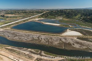 Aerial photo of San Dieguito Lagoon State Marine Conservation Area.  San Dieguito Lagoon State Marine Conservation Area (SMCA) is a marine protected area near Del Mar in San Diego County. California, USA, natural history stock photograph, photo id 30615