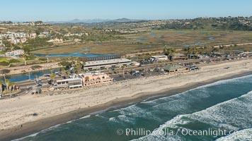 Aerial Photo of San Elijo State Beach and Encinitas Coastline