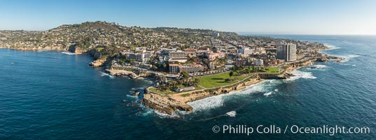 Aerial Photo of Point La Jolla and La Jolla Cove, Boomer Beach, Scripps Park