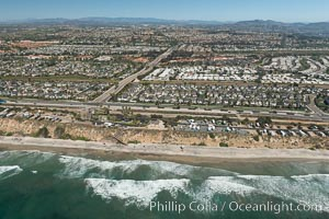 Aerial photo of South Carlsbad State Beach