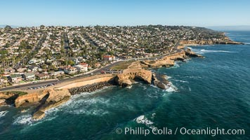 Aerial Photo of Sunset Cliffs and Point Loma