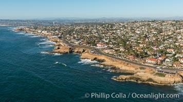 Aerial Photo of Sunset Cliffs Coastline, San Diego, California