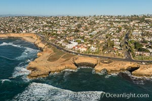 Aerial Photo of Sunset Cliffs Ratkay Point, San Diego, California