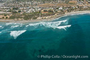 Aerial Photo of Swamis Marine Conservation Area.  Swamis State Marine Conservation Area (SMCA) is a marine protected area that extends offshore of Encinitas in San Diego County