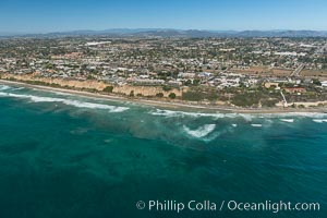 Aerial Photo of Swamis Marine Conservation Area.  Swami's State Marine Conservation Area (SMCA) is a marine protected area that extends offshore of Encinitas in San Diego County. California, USA, natural history stock photograph, photo id 30576