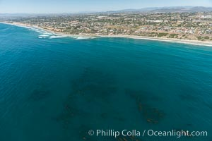Aerial Photo of Swamis Marine Conservation Area.  Swami's State Marine Conservation Area (SMCA) is a marine protected area that extends offshore of Encinitas in San Diego County. California, USA, natural history stock photograph, photo id 30578