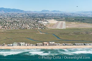 Aerial Photo of Tijuana River Mouth SMCA.  Tijuana River Mouth State Marine Conservation Area borders Imperial Beach and the Mexican Border