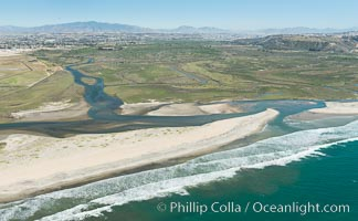 Aerial Photo of Tijuana River Mouth SMCA.  Tijuana River Mouth State Marine Conservation Area borders Imperial Beach and the Mexican Border. Imperial Beach, California, USA, natural history stock photograph, photo id 30646