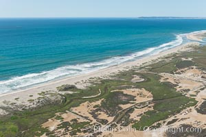 Aerial Photo of Tijuana River Mouth SMCA.  Tijuana River Mouth State Marine Conservation Area borders Imperial Beach and the Mexican Border. Imperial Beach, California, USA, natural history stock photograph, photo id 30650