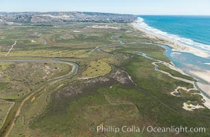 Aerial Photo of Tijuana River Mouth SMCA.  Tijuana River Mouth State Marine Conservation Area borders Imperial Beach and the Mexican Border. California, USA, natural history stock photograph, photo id 30653