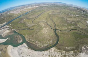 Aerial Photo of Tijuana River Mouth SMCA.  Tijuana River Mouth State Marine Conservation Area borders Imperial Beach and the Mexican Border. Imperial Beach, California, USA, natural history stock photograph, photo id 30659