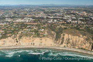 Aerial Photo of UC San Diego, Blacks Beach and La Jolla Farms. La Jolla, California, USA, natural history stock photograph, photo id 30709