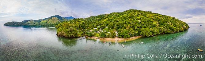 Aerial View of Gau Island, Fiji