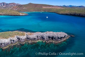Aerial View near Playa Balandra and Lobera San Rafaelito, Sea of Cortez