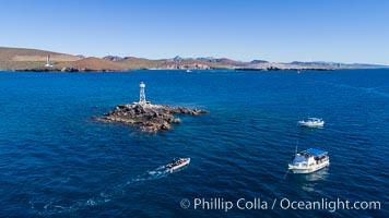 Aerial View near Playa Balandra and Lobera San Rafaelito, Sea of Cortez. Lobera San Rafaelito, Baja California, Mexico, natural history stock photograph, photo id 33831