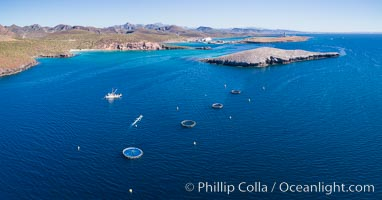 Aerial View near Playa Balandra and Lobera San Rafaelito, Sea of Cortez. Lobera San Rafaelito, Baja California, Mexico, natural history stock photograph, photo id 33832