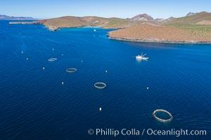 Aerial View near Playa Balandra and Lobera San Rafaelito, Sea of Cortez. Lobera San Rafaelito, Baja California, Mexico, natural history stock photograph, photo id 33833