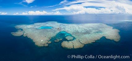 Aerial View of Vatu-i-Ra Coral Seascape, Fiji, Vatu I Ra Passage, Bligh Waters, Viti Levu Island