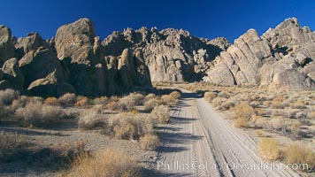 Movie Road passes through the scenic Alabama Hills where many western movies have been filmed, Alabama Hills Recreational Area