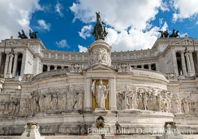 Altare della Patria, Altar of the Fatherland, Capitoline Hill, Rome. Rome, Italy, natural history stock photograph, photo id 35596