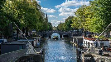 Amsterdam canals and quaint city scenery. Holland, Netherlands, natural history stock photograph, photo id 29432