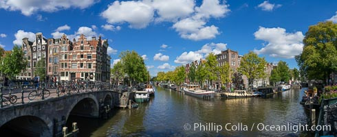 Amsterdam canals and quaint city scenery. Amsterdam, Holland, Netherlands, natural history stock photograph, photo id 29437