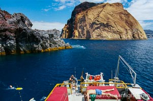 Anchored near Church Rock, with Isla Adentro just beyond. Guadalupe Island, Mexico, Guadalupe Island (Isla Guadalupe)