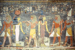 Ancient wall paintings,Valley of the Kings. Luxor, Egypt, natural history stock photograph, photo id 18476