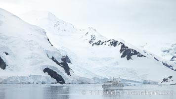 Approaching Neko Harbor.  Neko Harbor is an inlet on the Antarctic Peninsula on Andvord Bay