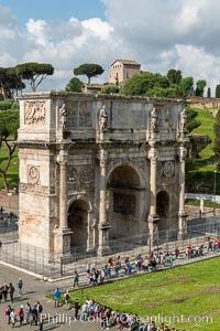 Arch of Constantine, Rome. Arch of Constantine, Rome, Italy, natural history stock photograph, photo id 35583
