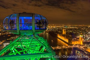 Atop the London Eye. London Eye, London, United Kingdom, natural history stock photograph, photo id 28297