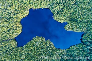 Balaklava Lake on Balaklava Island, Aerial Photo