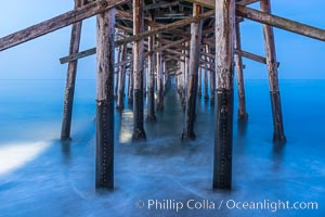Balboa Pier, sunrise. Newport Beach, California, USA, natural history stock photograph, photo id 29135