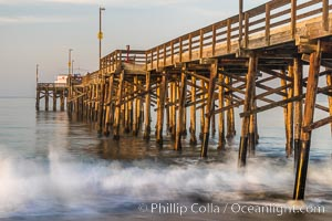 Balboa Pier, sunrise. Balboa Pier, Newport Beach, California, USA, natural history stock photograph, photo id 29138