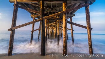 Balboa Pier, sunrise. Balboa Pier, Newport Beach, California, USA, natural history stock photograph, photo id 29139