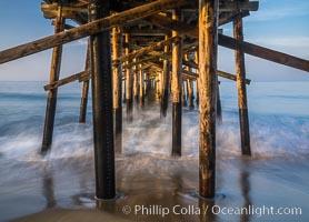 Balboa Pier, sunrise. Newport Beach, California, USA, natural history stock photograph, photo id 29140