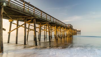 Balboa Pier, sunrise. Newport Beach, California, USA, natural history stock photograph, photo id 29141
