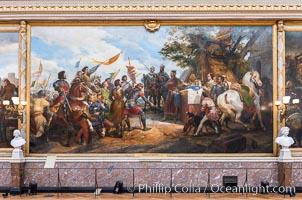 Image 35623, The Battle of Bouvines on 27 July 1214. Artist: Vernet, Horace (1789-1863), Chateau de Versailles, Paris. Chateau de Versailles, Paris, France