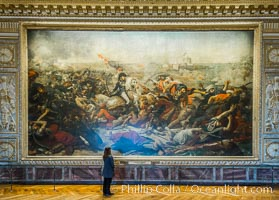 The Battle of the Nile, also known as the Battle of Aboukir Bay, in French as the Bataille d'Aboukir. Chateau de Versailles, Paris, France, natural history stock photograph, photo id 28078