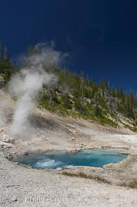 Beryl Spring is superheated with temperatures above the boiling point. Yellowstone National Park, Wyoming, USA, natural history stock photograph, photo id 13466