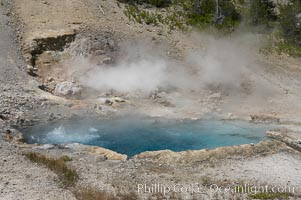 Beryl Spring is superheated with temperatures above the boiling point. Yellowstone National Park, Wyoming, USA, natural history stock photograph, photo id 13467
