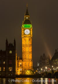 Big Ben at Night, Houses of Parliment, London, United Kingdom