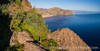 Bird's Eye View over Sherry's Bay, Sea of Cortez, Sherrys Bay, Baja California, Mexico