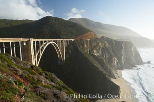 Bixby Bridge at sunset, Big Sur, California