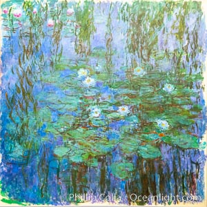 Blue Water Lilies, Claude Monet, Musee d'Orsay, Paris. Musee dOrsay, Paris, France, natural history stock photograph, photo id 35659
