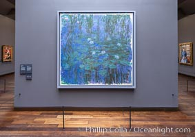 Blue Water Lilies, Claude Monet, Musee d'Orsay, Paris. Musee dOrsay, Paris, France, natural history stock photograph, photo id 35660