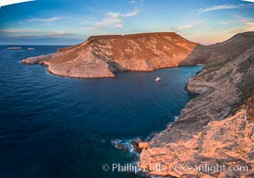 Boat Ambar, Ensenada el Embudo, Isla Partida, Sea of Cortez, Aerial Photo