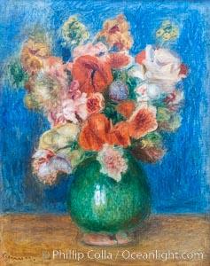 """Bouquet by Pierre-Auguste Renoir, Musee de l""""Orangerie, Musee de lOrangerie, Paris, France"""